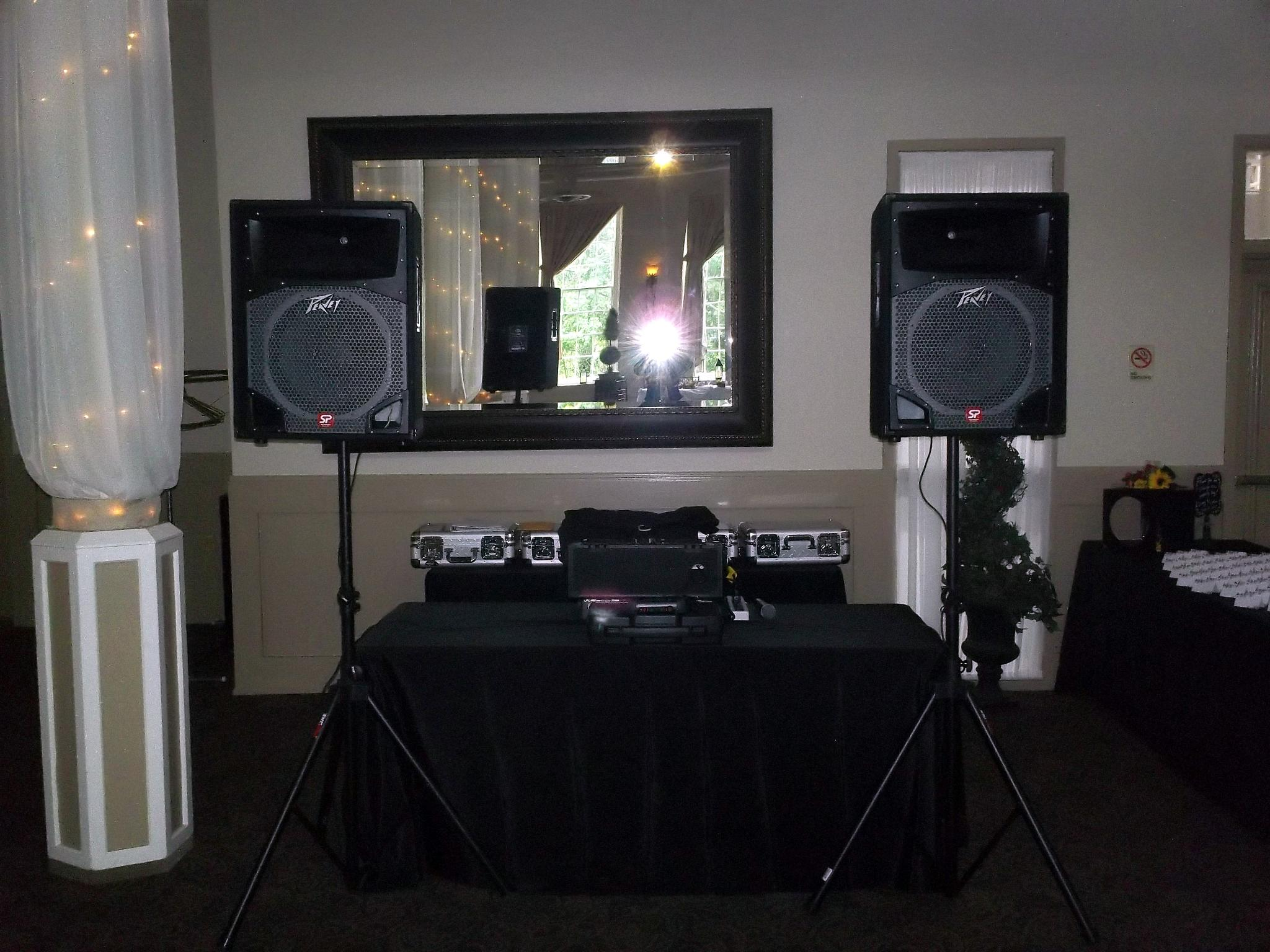 DJ Set Up at Reception, Professional DJ Services, Baltimore, MD